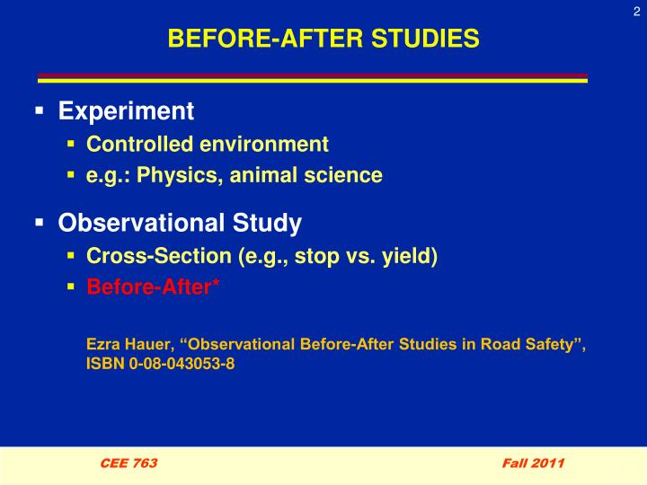 Before after studies