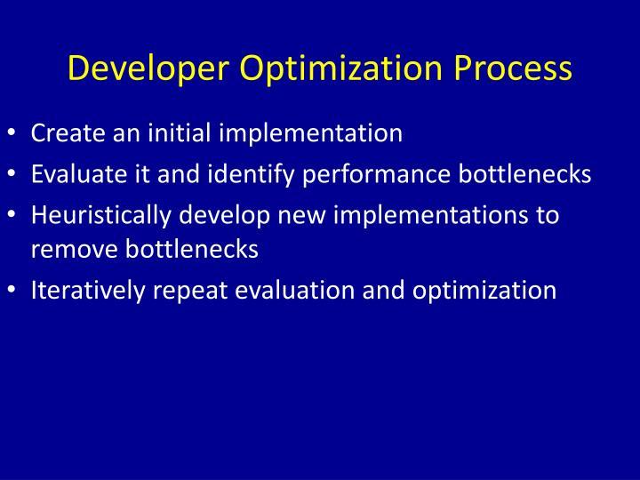 Developer Optimization Process