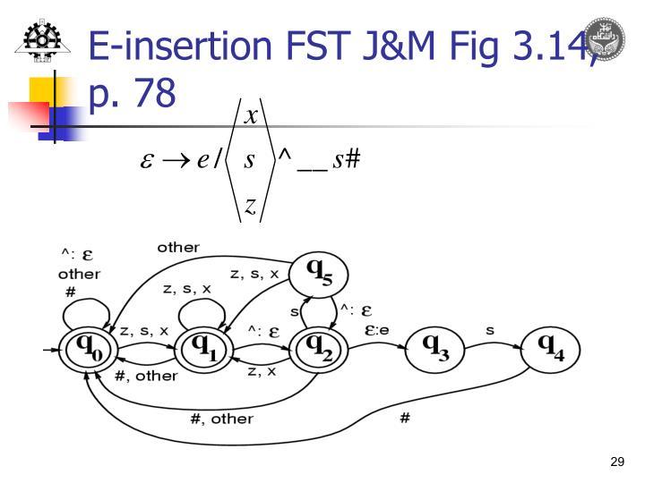 E-insertion FST J&M Fig 3.14, p. 78