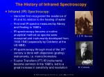 the history of infrared spectroscopy