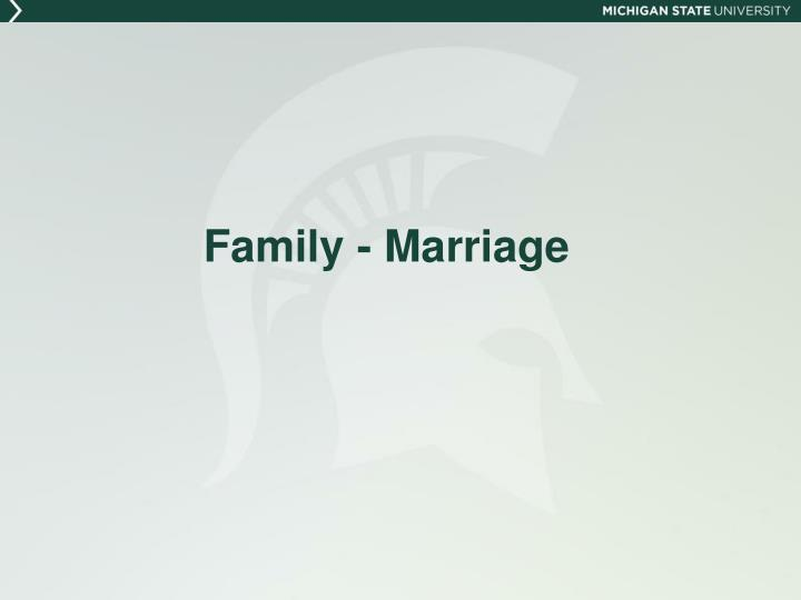 Family - Marriage