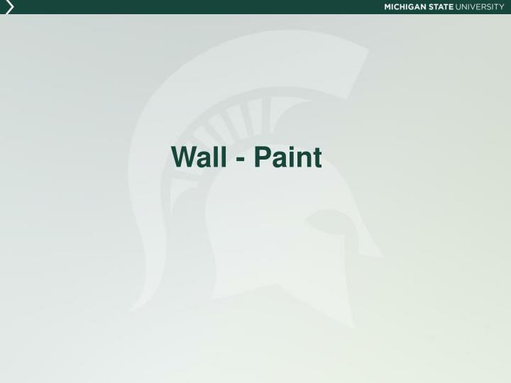 Wall - Paint