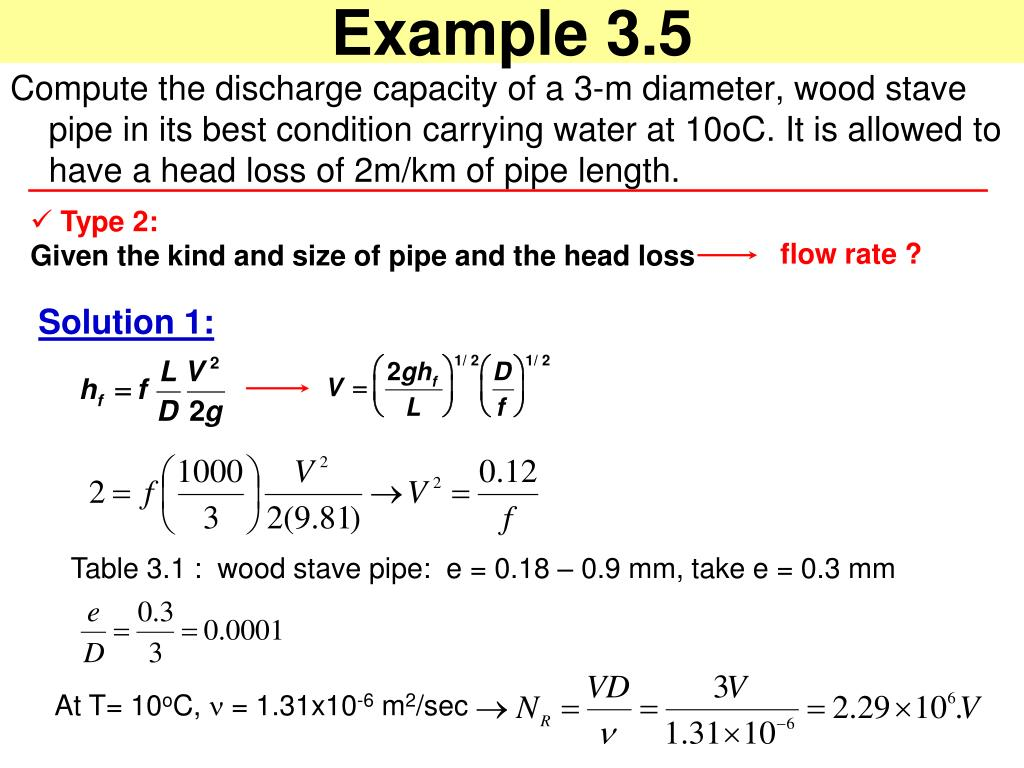 PPT - Water Flow in Pipes PowerPoint Presentation - ID:4127098