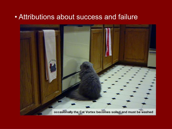 • Attributions about success and failure