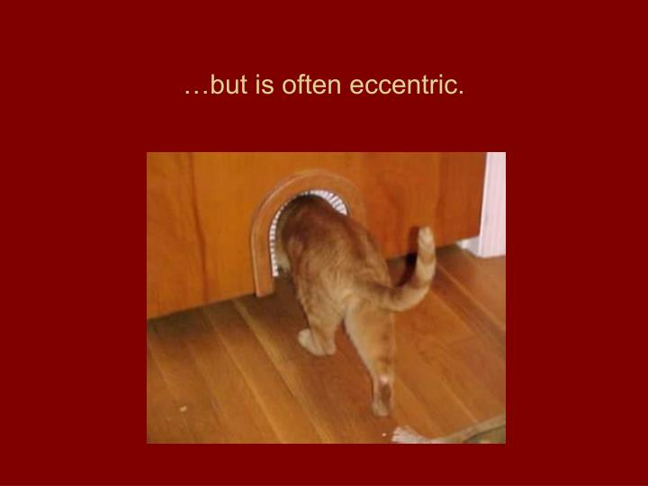 …but is often eccentric.