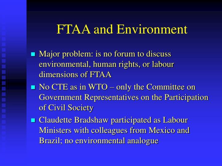 FTAA and Environment