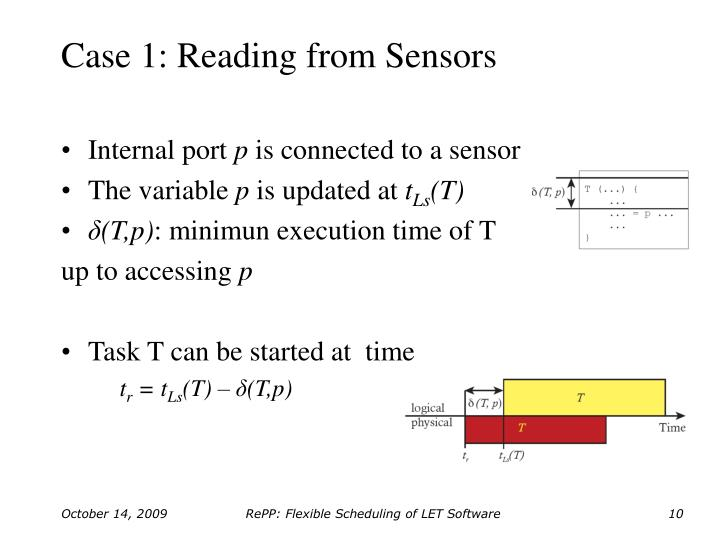 Case 1: Reading from Sensors