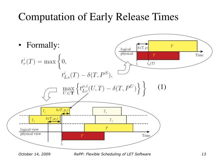 Computation of Early Release Times