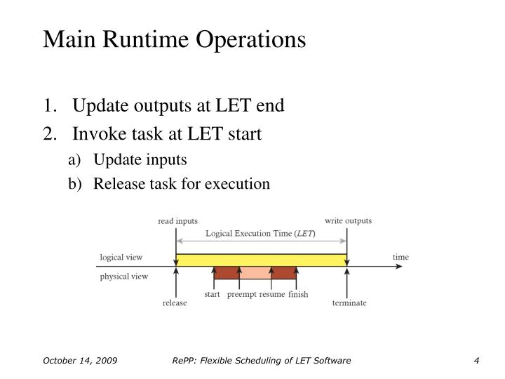 Main Runtime Operations