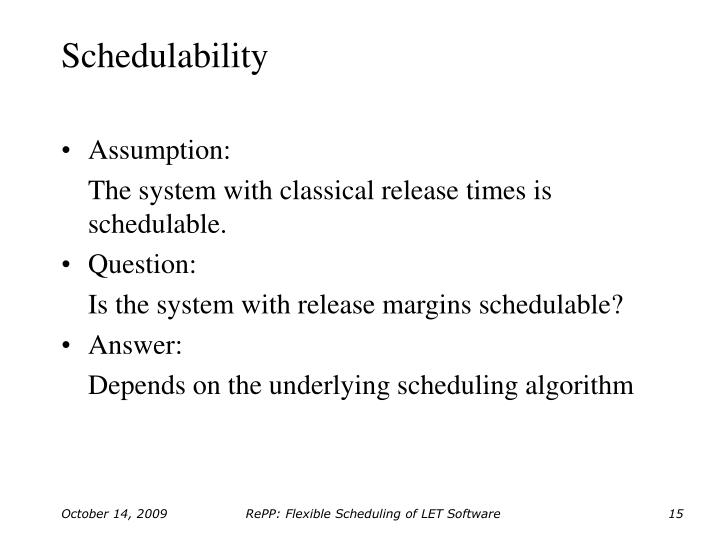 Schedulability