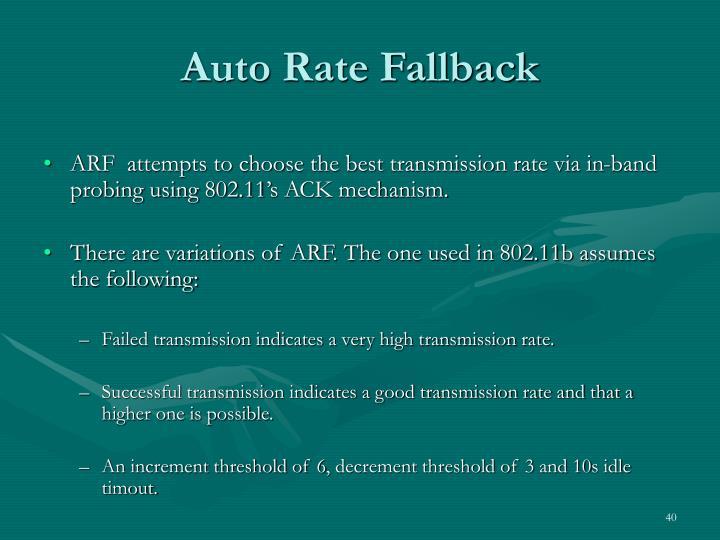 Auto Rate Fallback