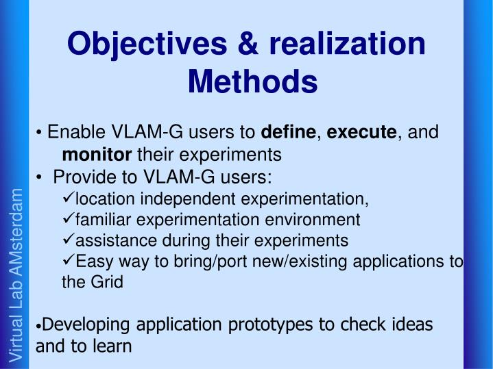 Objectives & realization Methods