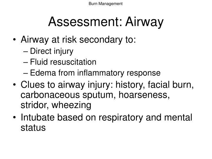 Assessment: Airway