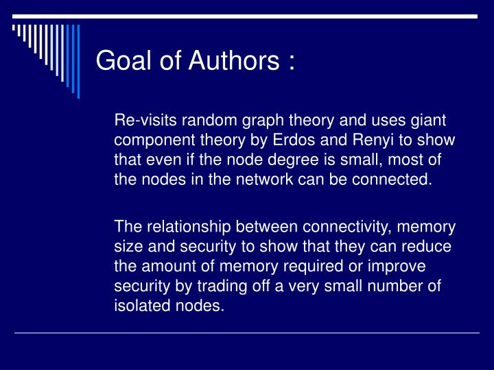 Goal of authors