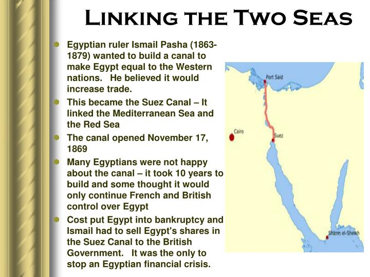 Linking the Two Seas