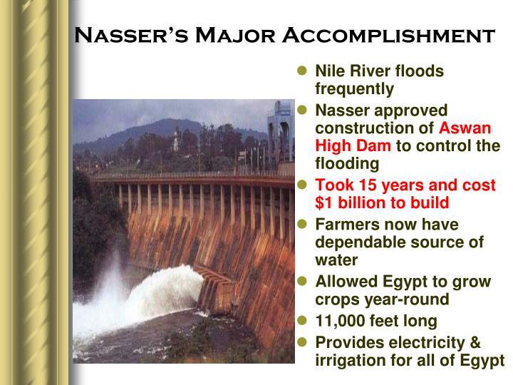 Nasser's Major Accomplishment