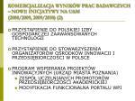 komercjalizacja wynik w prac badawczych nowe inicjatywy na uam 2008 2009 2009 2010 2