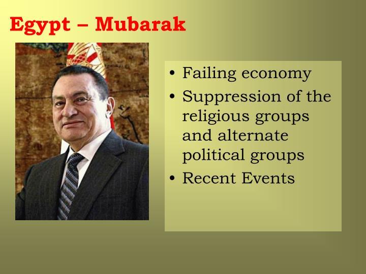 Egypt – Mubarak
