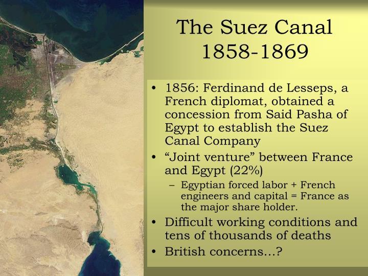 The Suez Canal 1858-1869