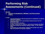 performing risk assessments continued10