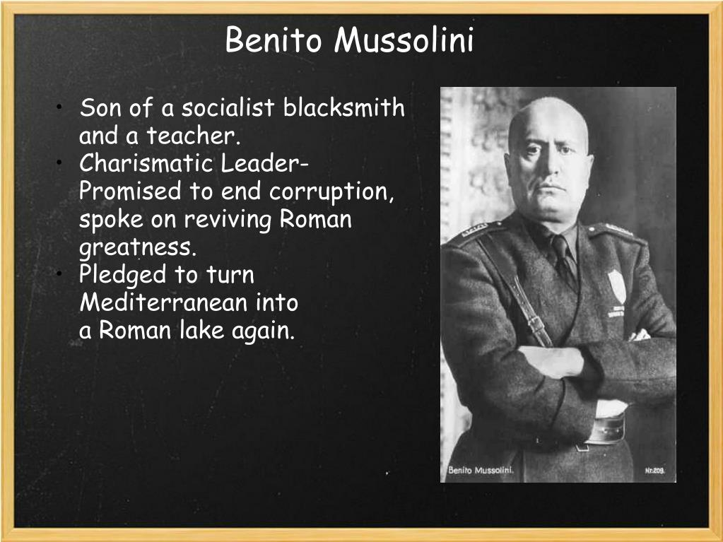 Image result for mussolini greatness