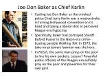 joe don baker as chief karlin