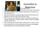 journalist as detective
