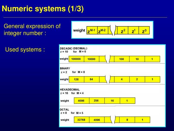 Numeric systems 1 3