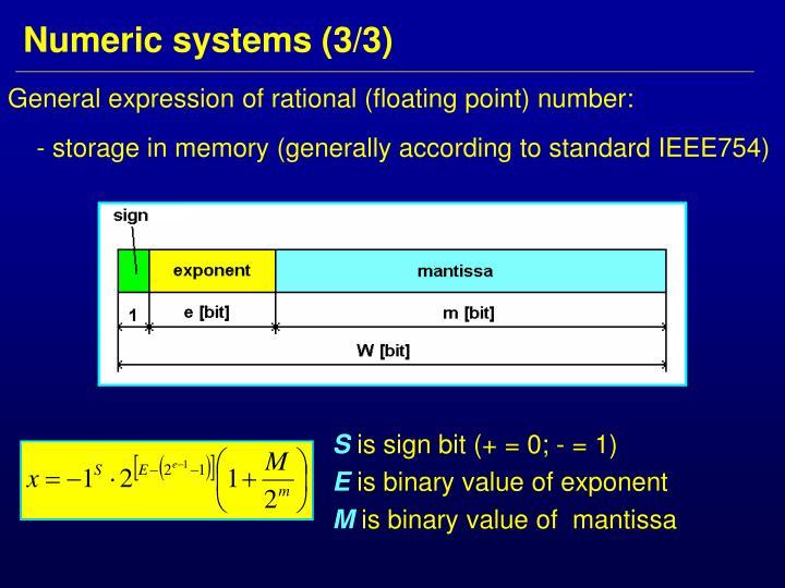 Numeric systems