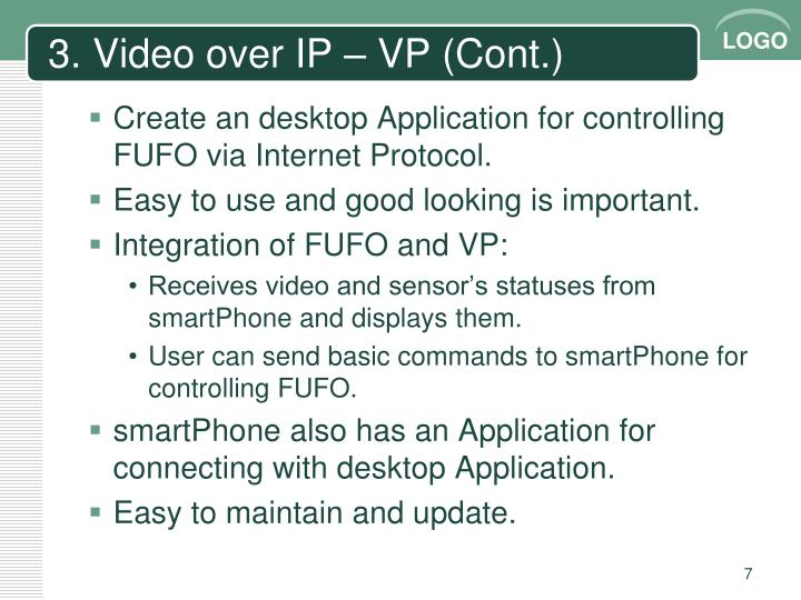 3. Video over IP – VP (Cont.)
