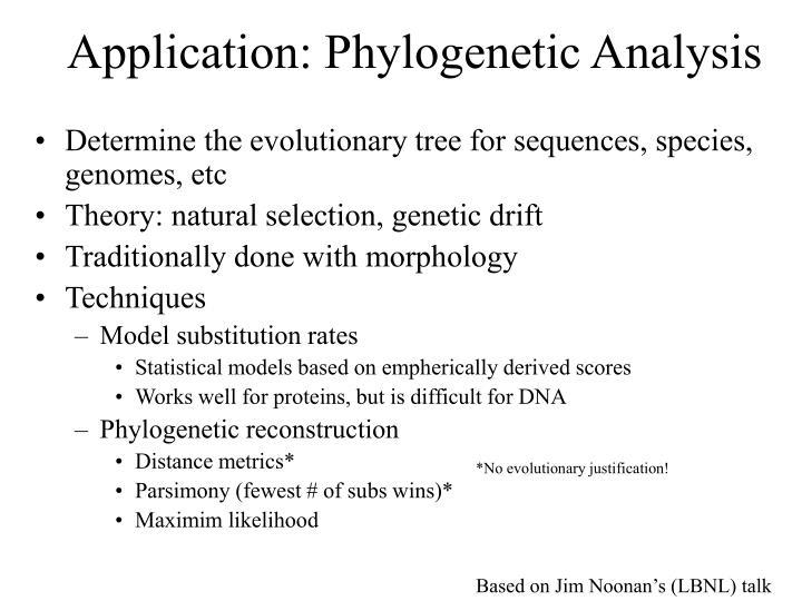 Application: Phylogenetic Analysis