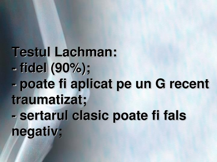 Testul Lachman: