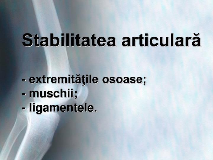 Stabilitatea articulară