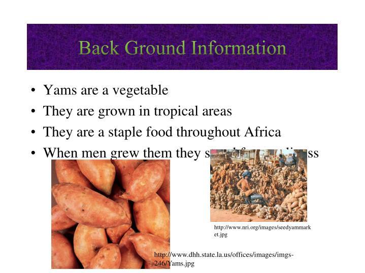 Back Ground Information