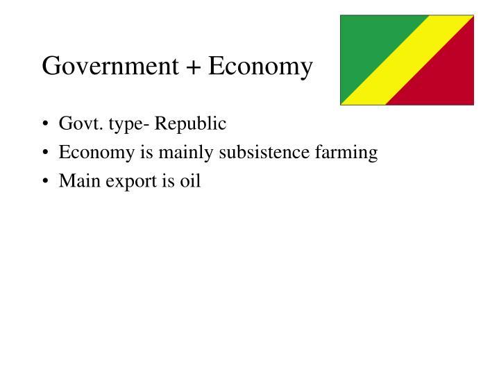 Government + Economy