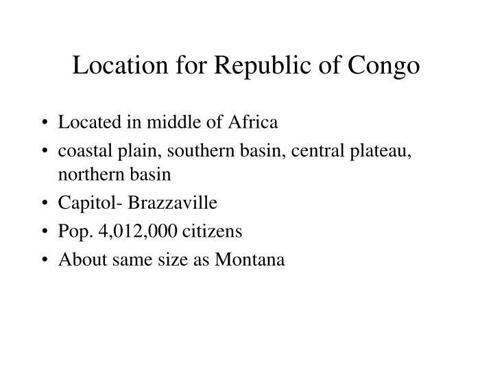 Location for Republic of Congo