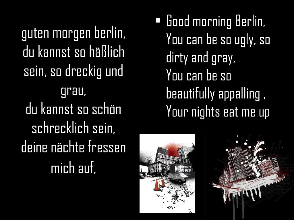 Guten Morgen Berlin Du Kannst So Hässlich Sein Mischas