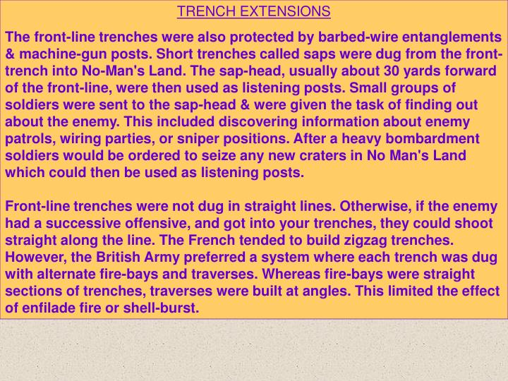 TRENCH EXTENSIONS