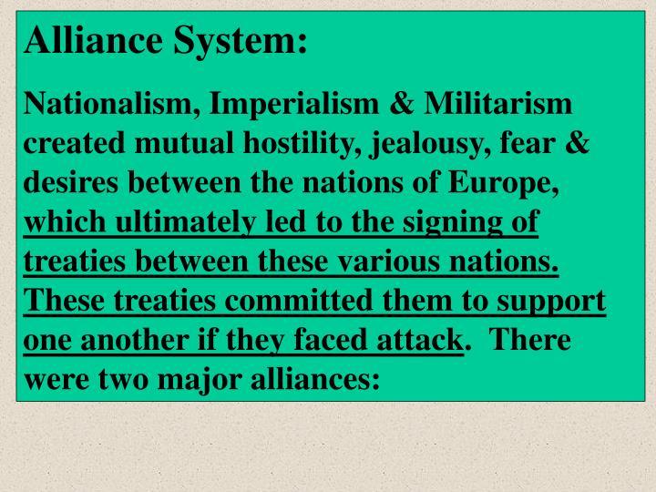 Alliance System: