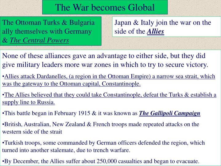 The War becomes Global