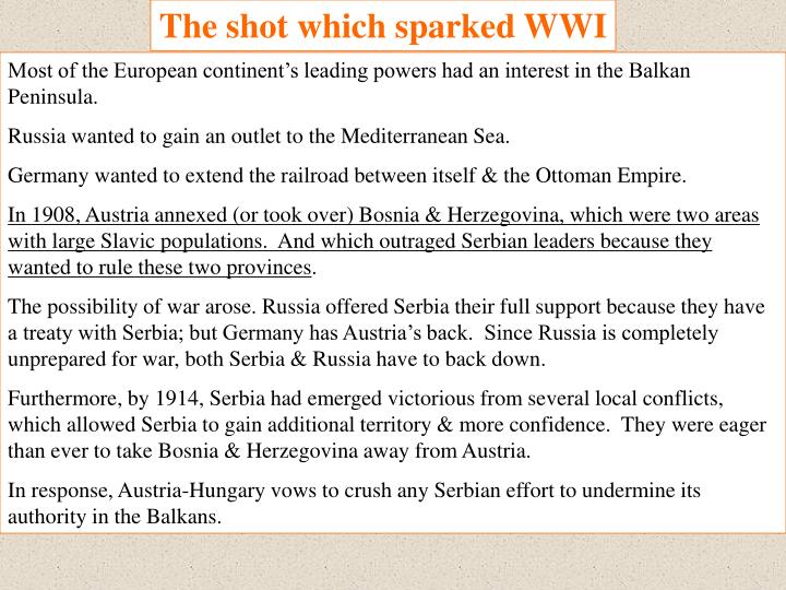 The shot which sparked WWI