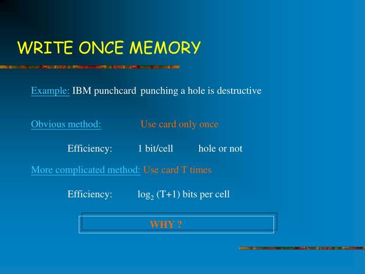 Write once memory