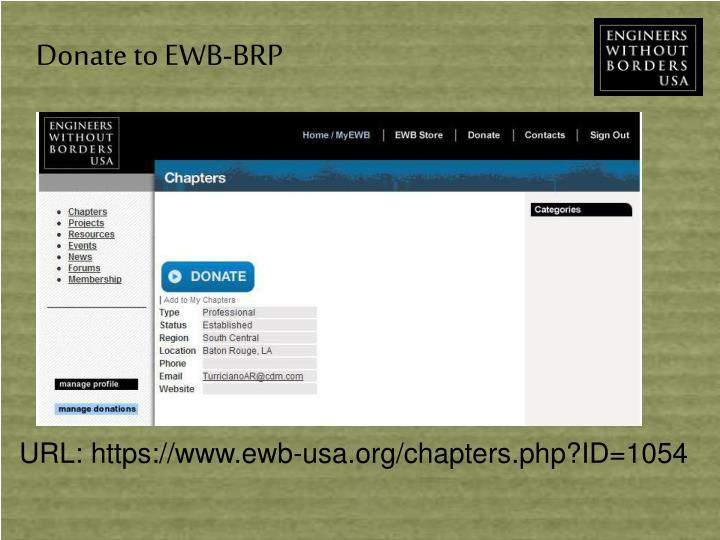 Donate to EWB-BRP