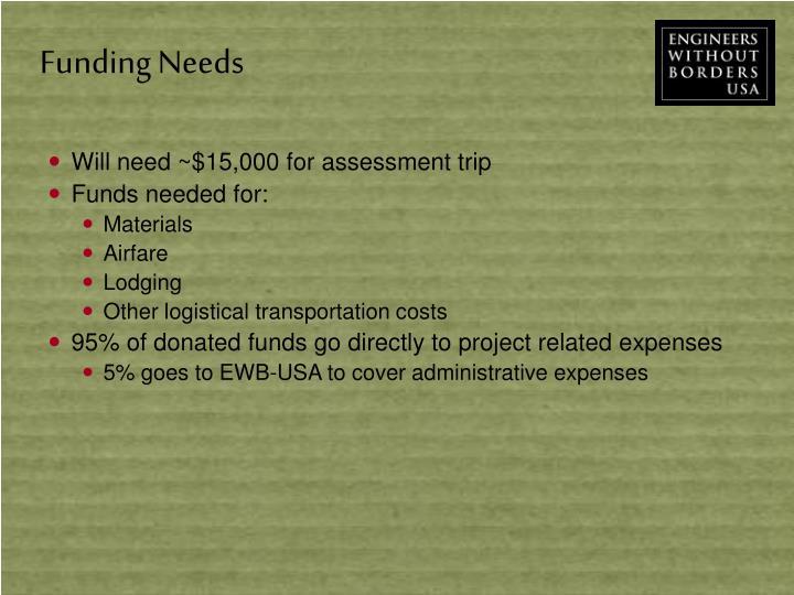 Funding Needs