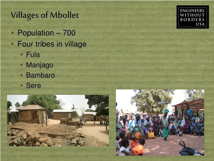 Villages of Mbollet