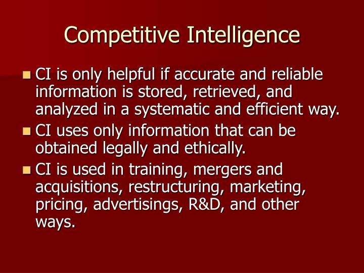 Competitive intelligence2