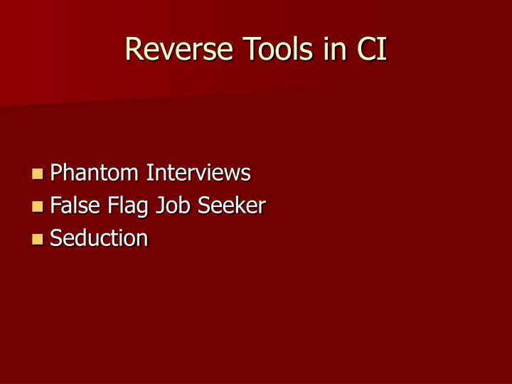 Reverse Tools in CI