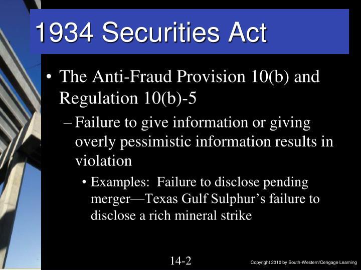 1934 securities act