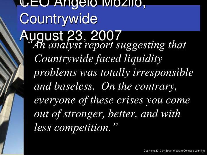CEO Angelo Mozilo, Countrywide