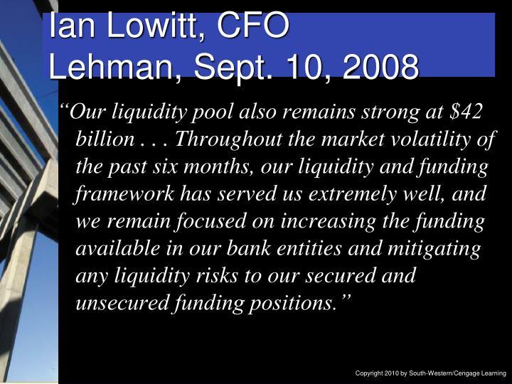 Ian Lowitt, CFO